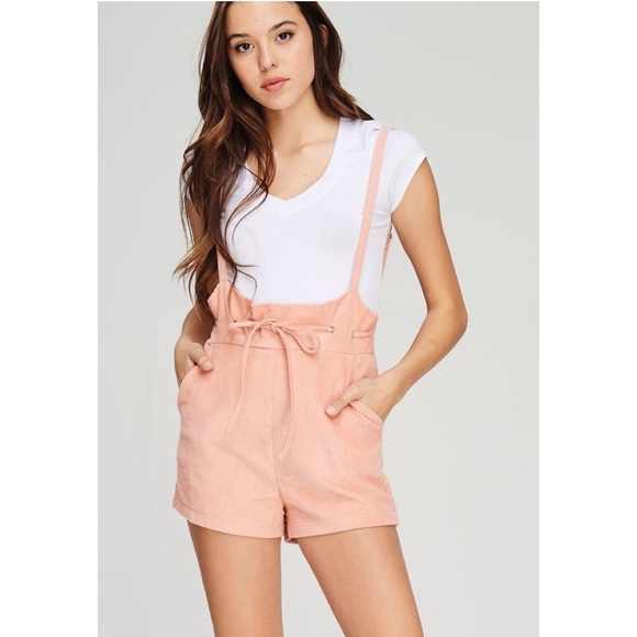 3a75e50a91cf BUY 2 GET 1 Corduroy Overall Romper Shorts